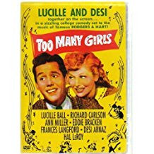 TOO MANY GIRLS – Lucille Ball/Desi Arnaz/Ann Miller (1940)
