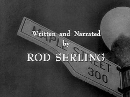 THE TWILIGHT ZONE. Opening credits from