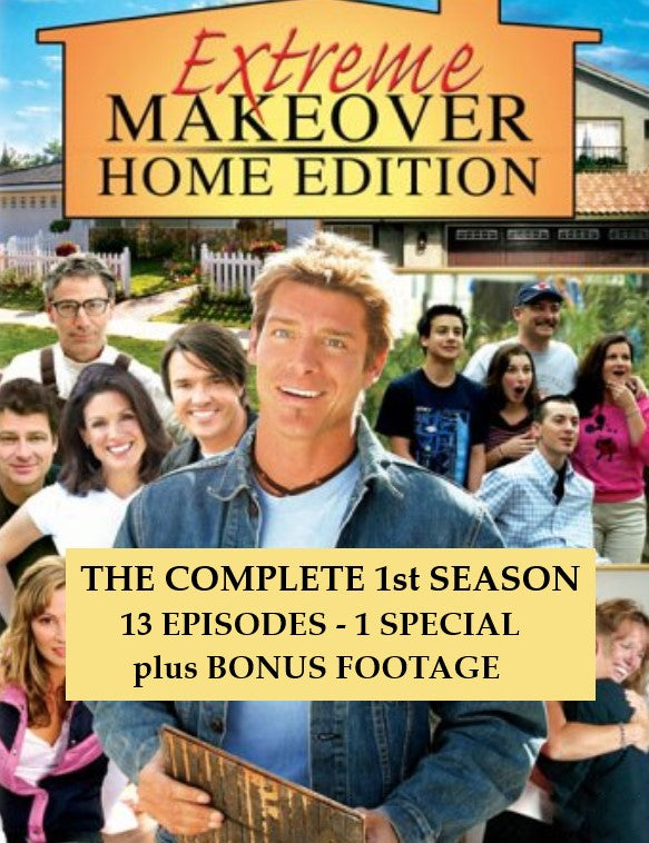 EXTREME MAKEOVER: HOME EDITION – THE COMPLETE FIRST SEASON + BONUS (ABC 2003-2004) RARE!!!