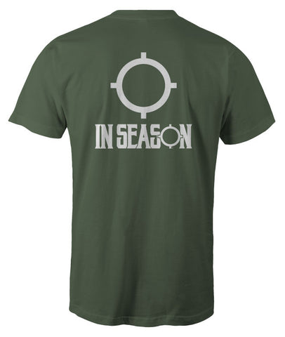 In Season Logo Shirt - Military Green