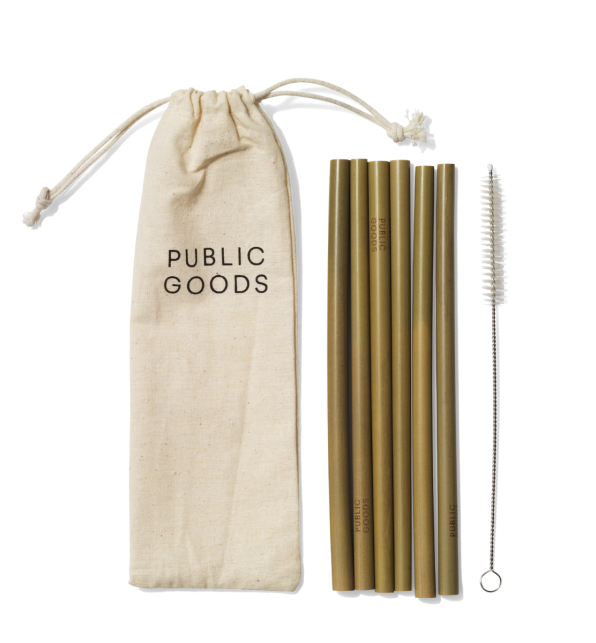 Public Goods bamboo straw set picture
