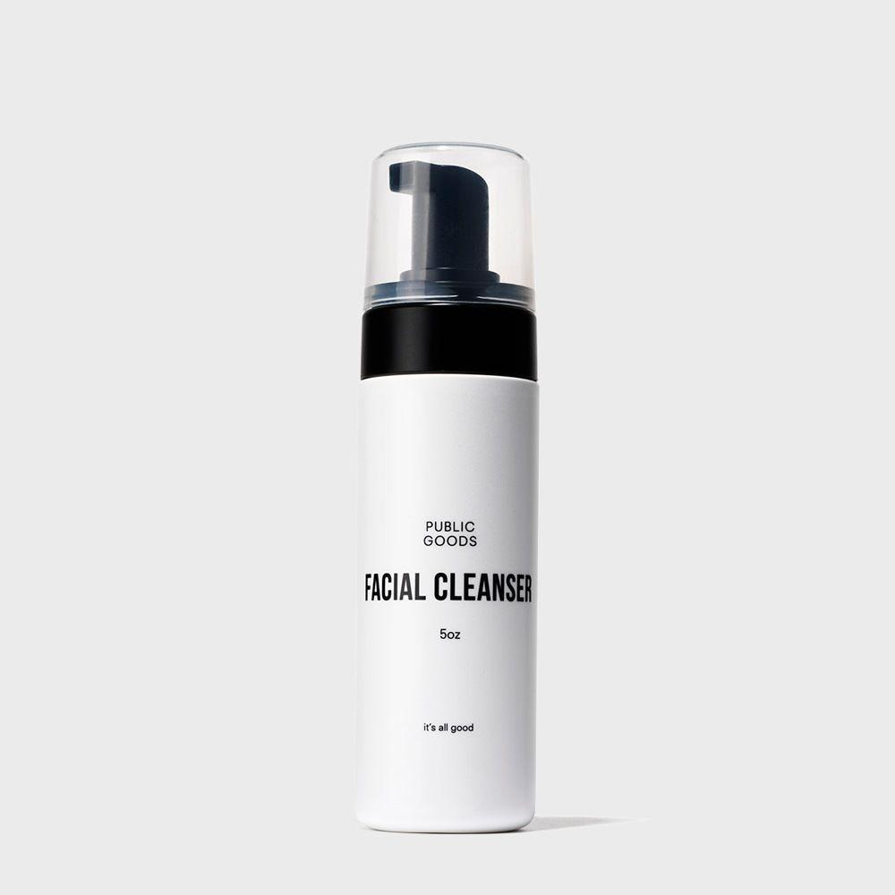 5 ounce bottle of public goods facial cleanser