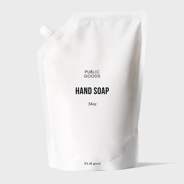 34 ounce bag of public goods hand soap