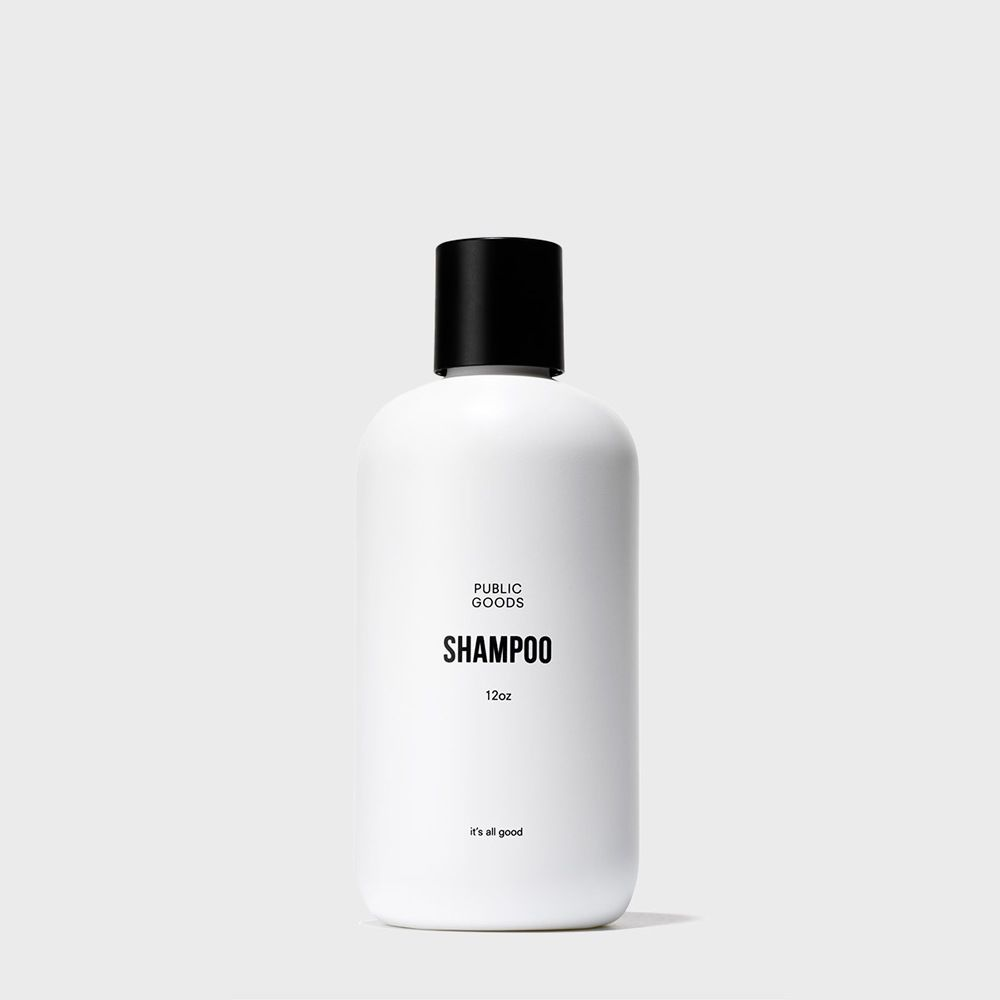 12 ounce bottle of public goods shampoo