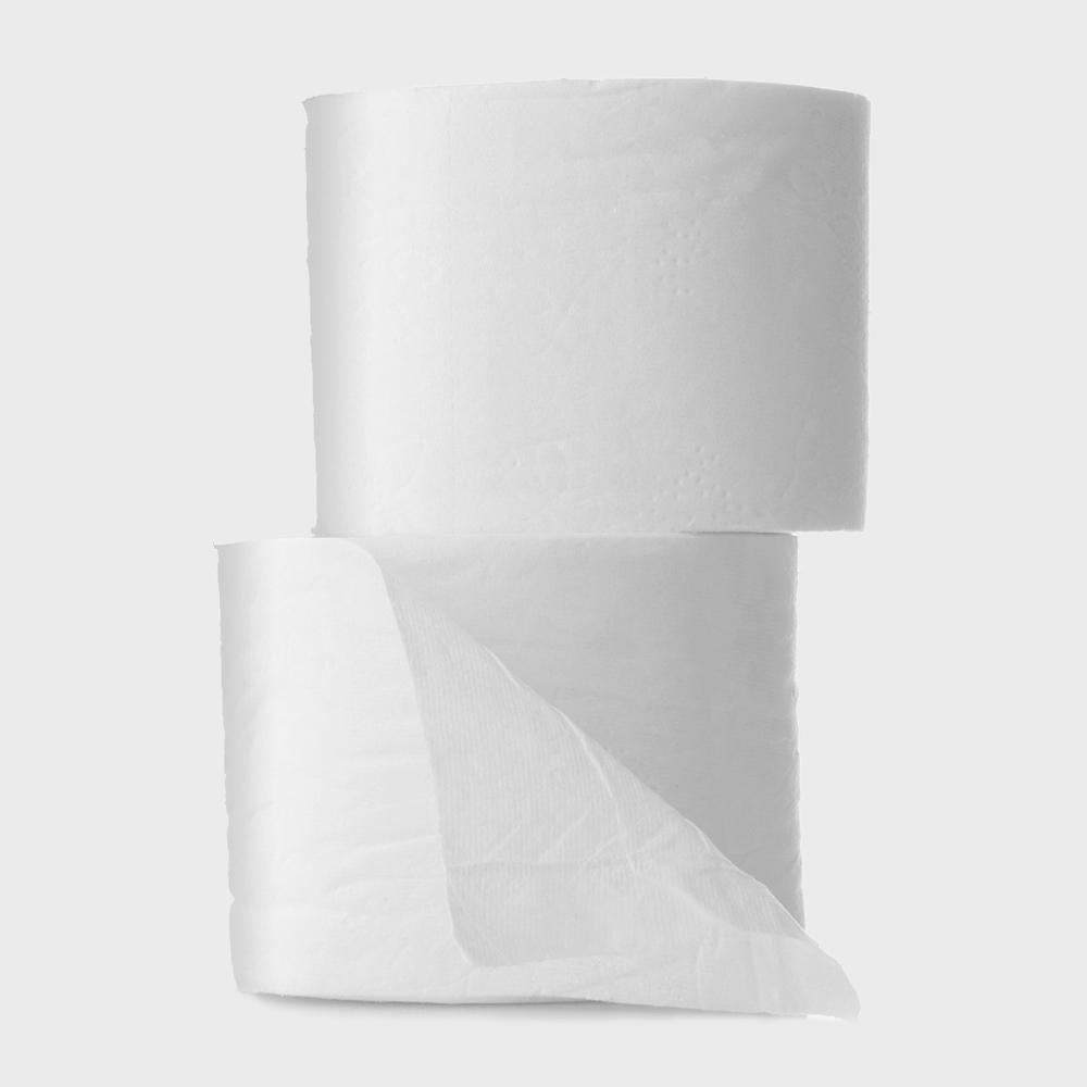 two rolls of tree free toilet paper