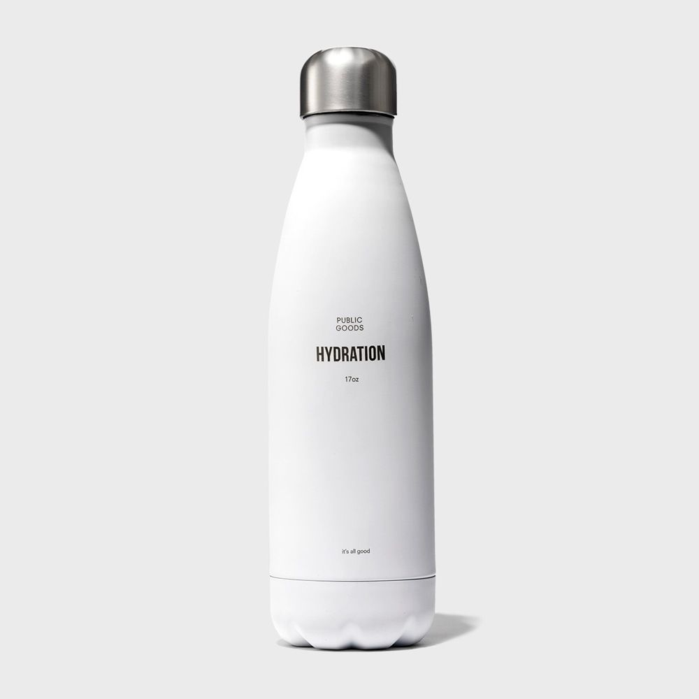 public goods white vacuum water bottle