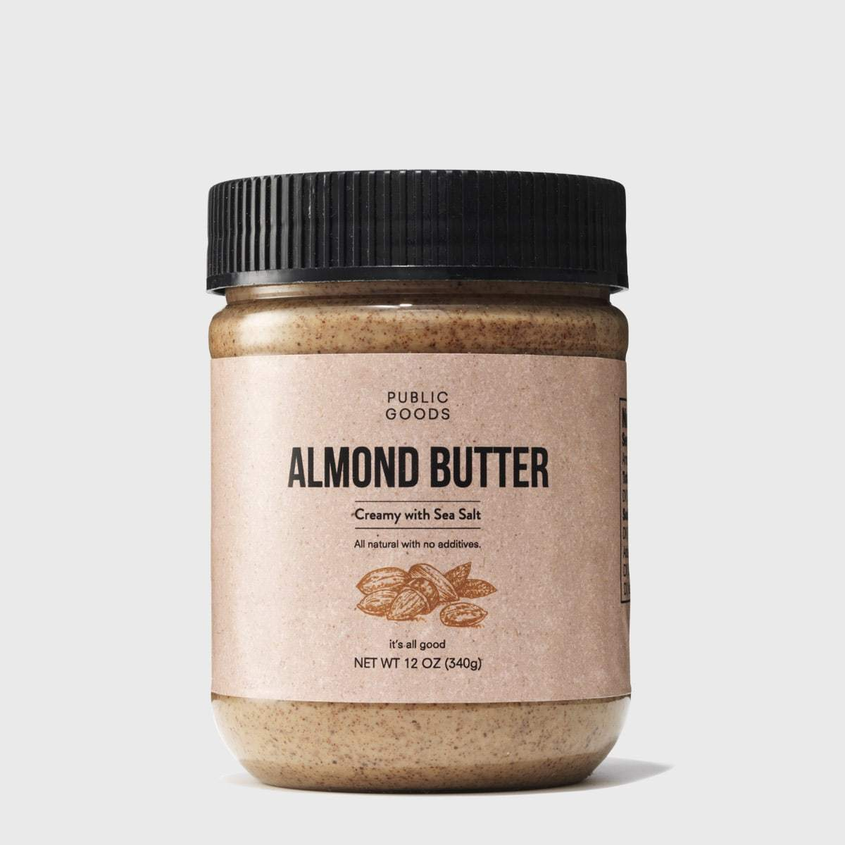 jar of public goods almond butter