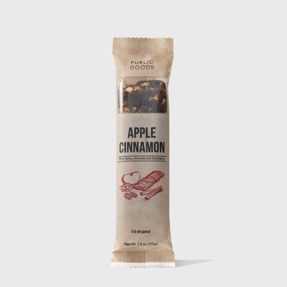 Apple Cinnamon Snack Bar 12 ct (Case of 8)