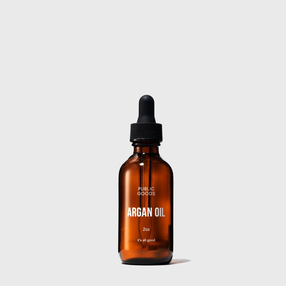 two ounce bottle of public goods argan oil