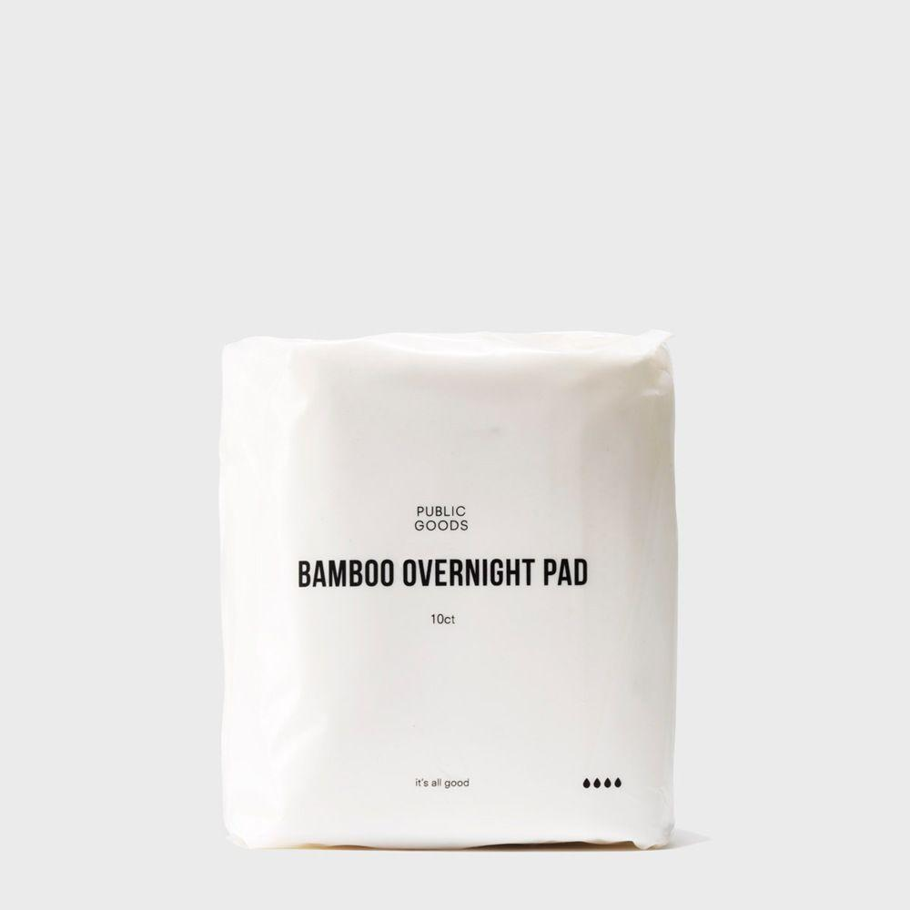 ten pack of bamboo overnight pads