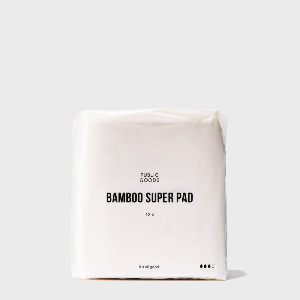 pack of public goods bamboo super maxi pads