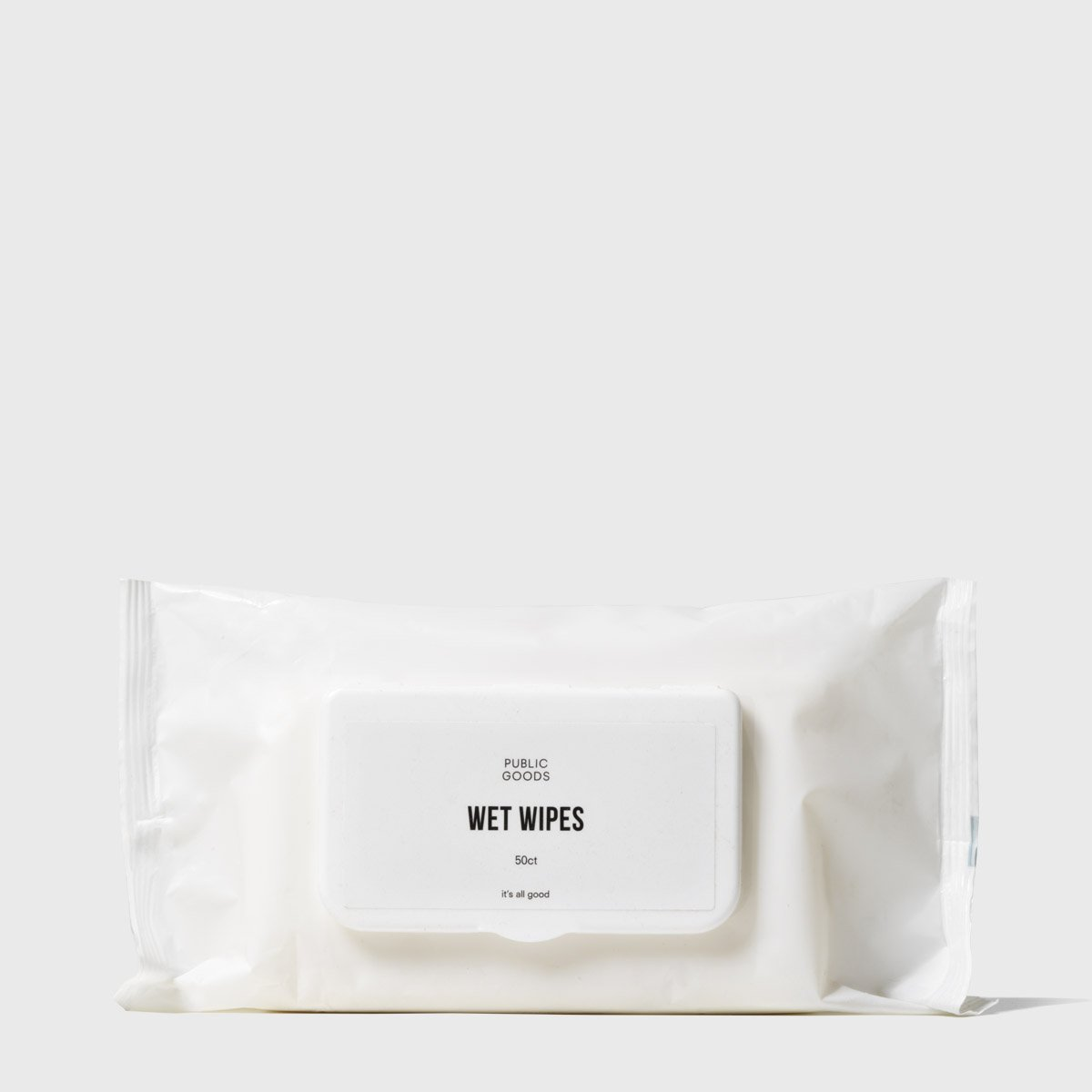package of public goods bamboo wet wipes