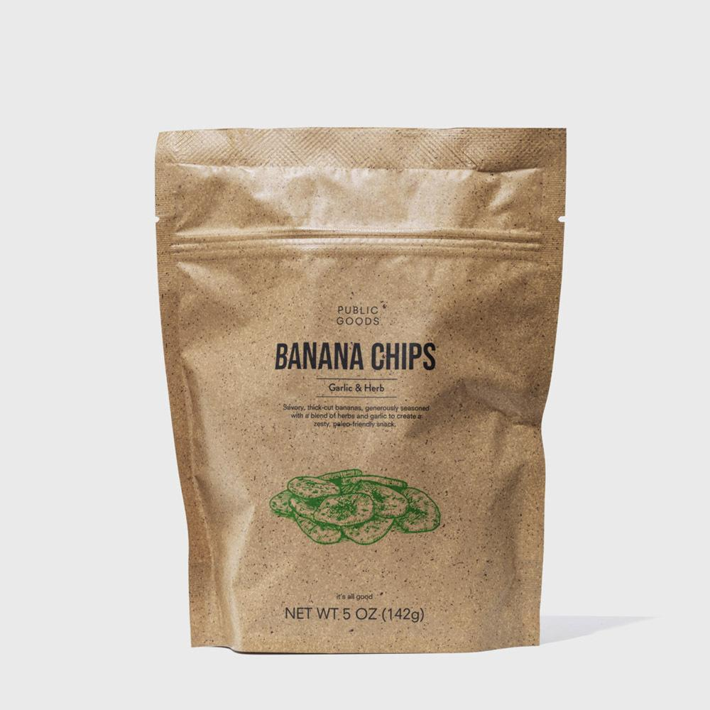 Public Goods Grocery Kettle Cooked Banana Chip - Garlic