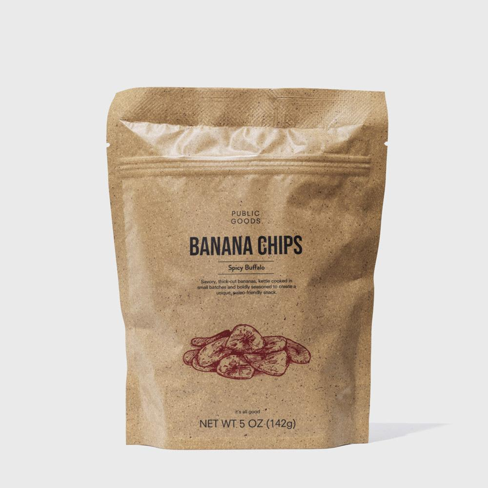 Public Goods Grocery Kettle Cooked Banana Chip - Buffalo