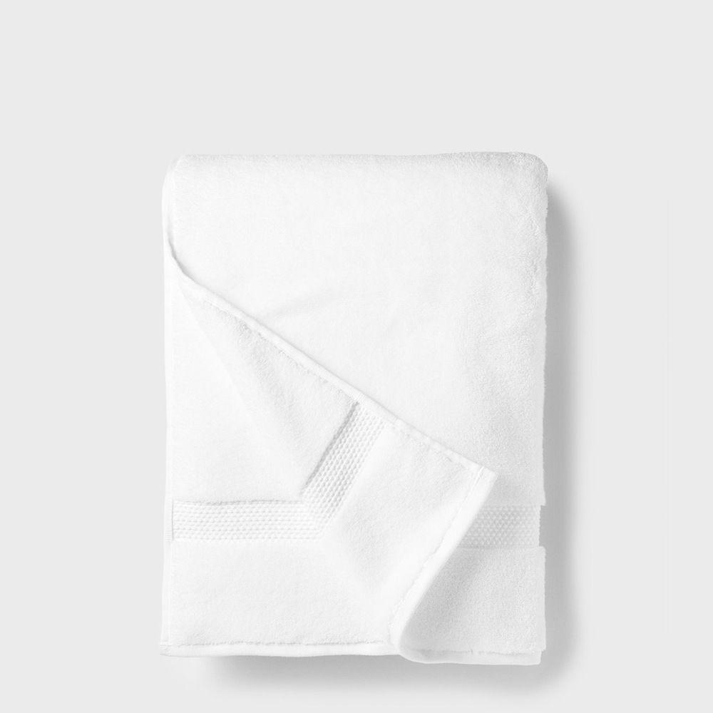 folded white bath towel