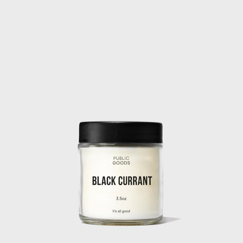 black currant candle with lid on