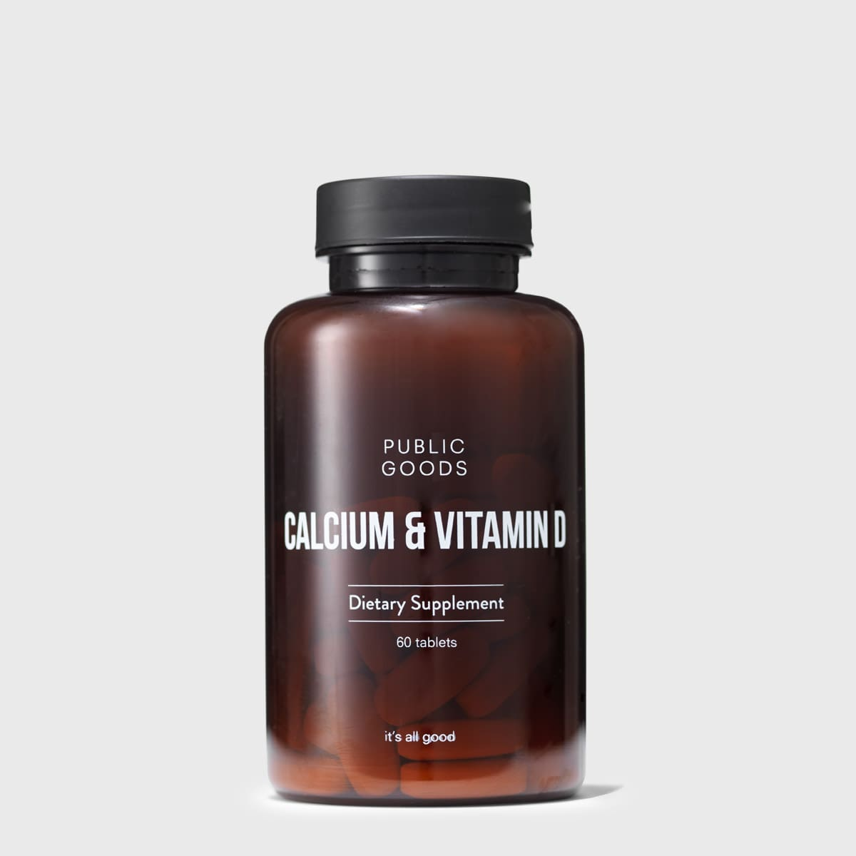 bottle of calcium and vitamin d