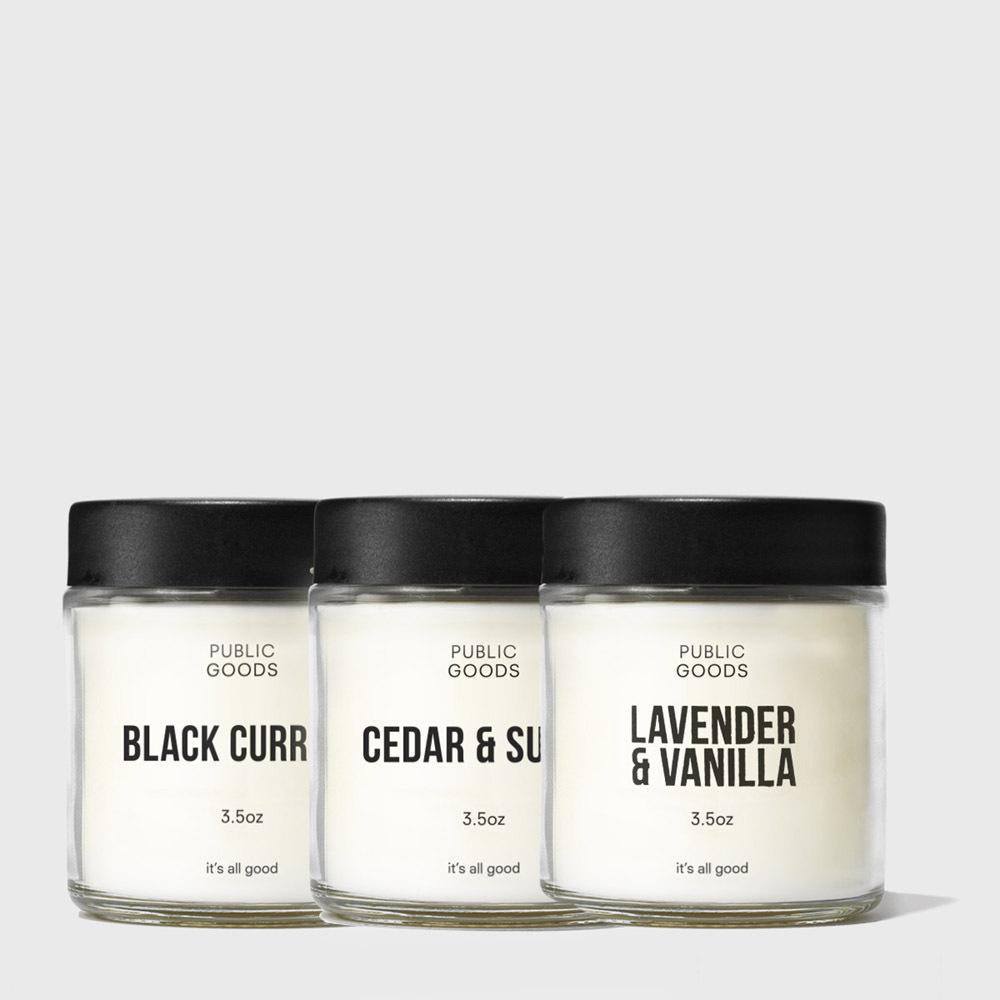 Public Goods Product Set Candle Set
