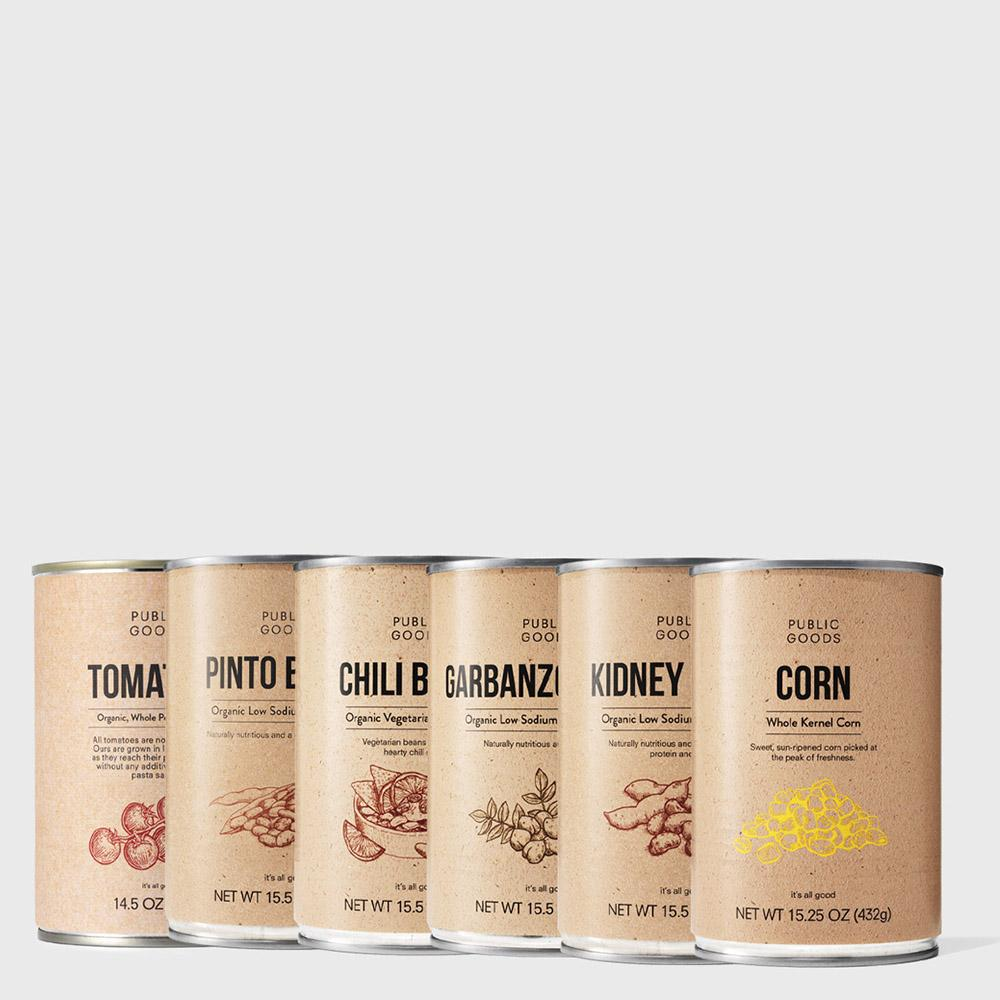 Public Goods Grocery Canned Goods Bundle