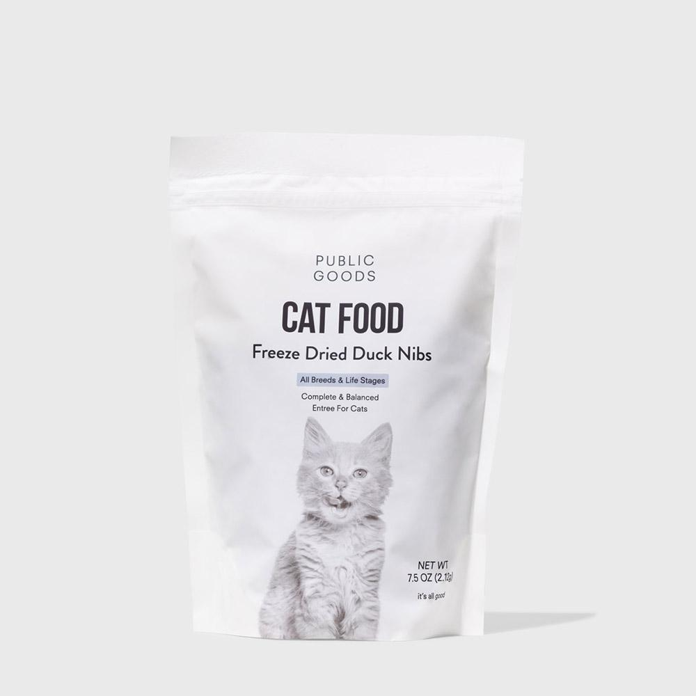 Public Goods Pet Cat Food - Freeze Dried Duck Nibs