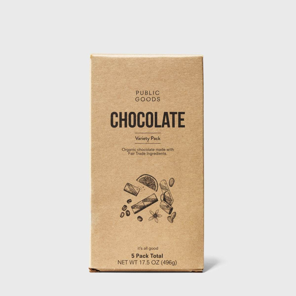 chocolate variety pack from public goods