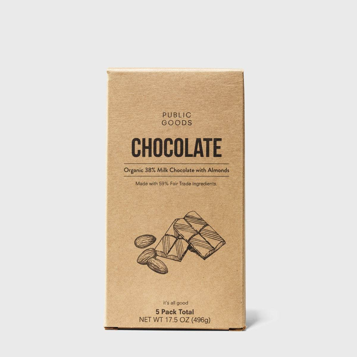 Milk Chocolate with Almonds 5 ct (Case of 26)