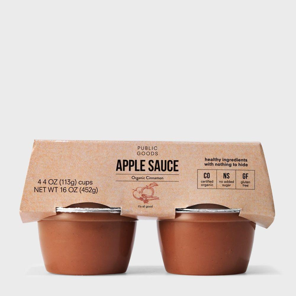 4 pack of organic cinnamon applesauce cups