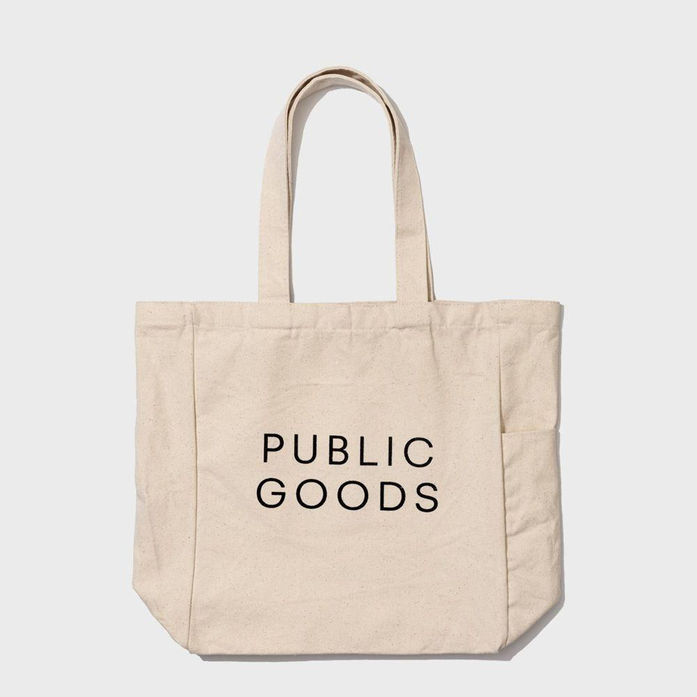 public goods cotton tote bag