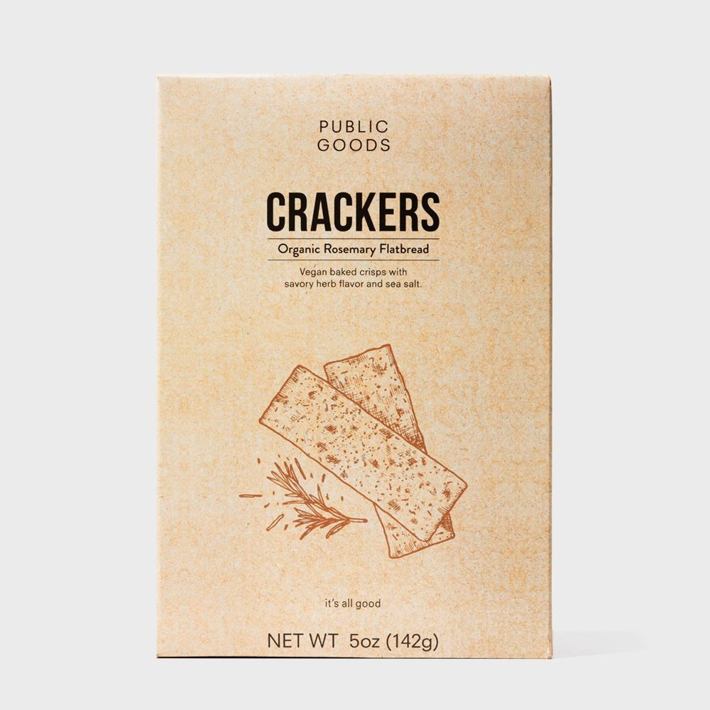 Public Goods Grocery Rosemary Crackers