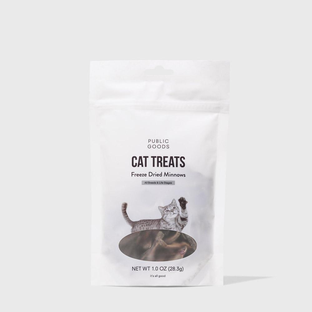 Public Goods Pet Cat Treats - Freeze Dried Minnows