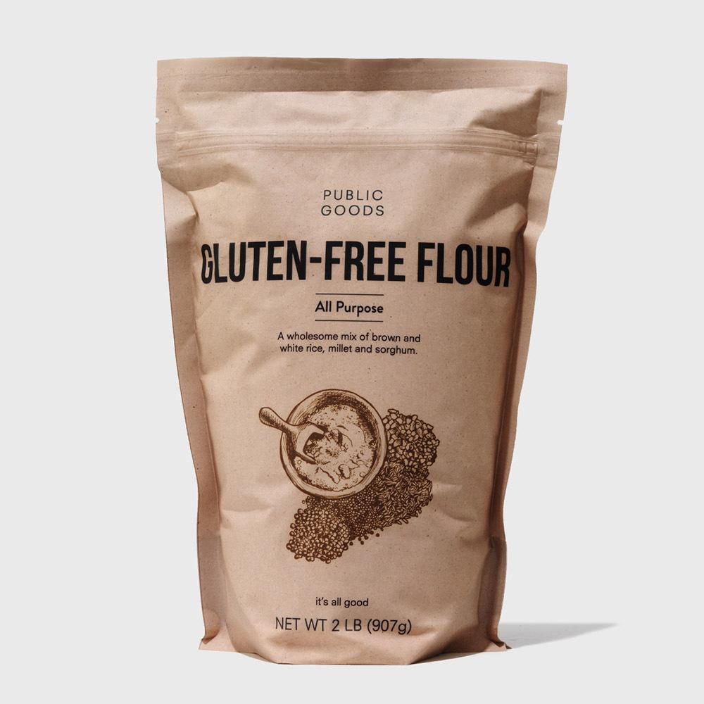 bag of organic gluten free flour
