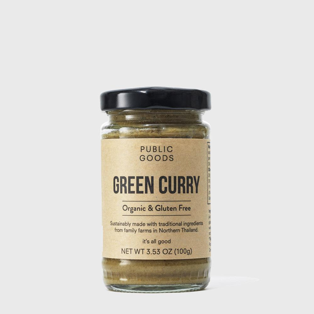 Public Goods Grocery Green Curry Paste