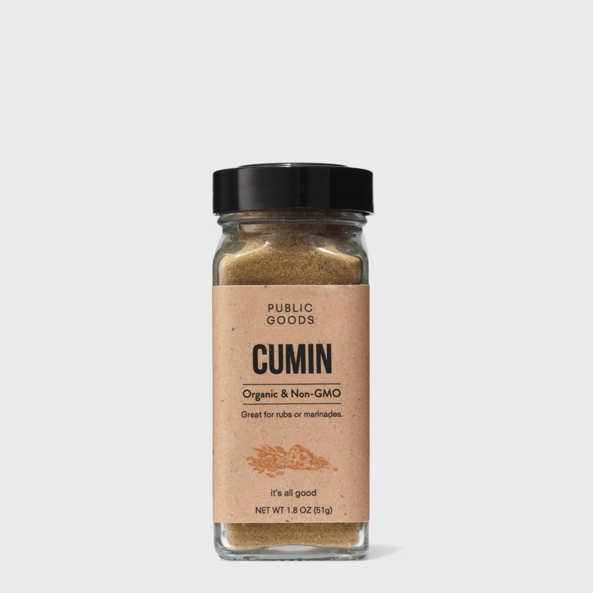 container or ground cumin