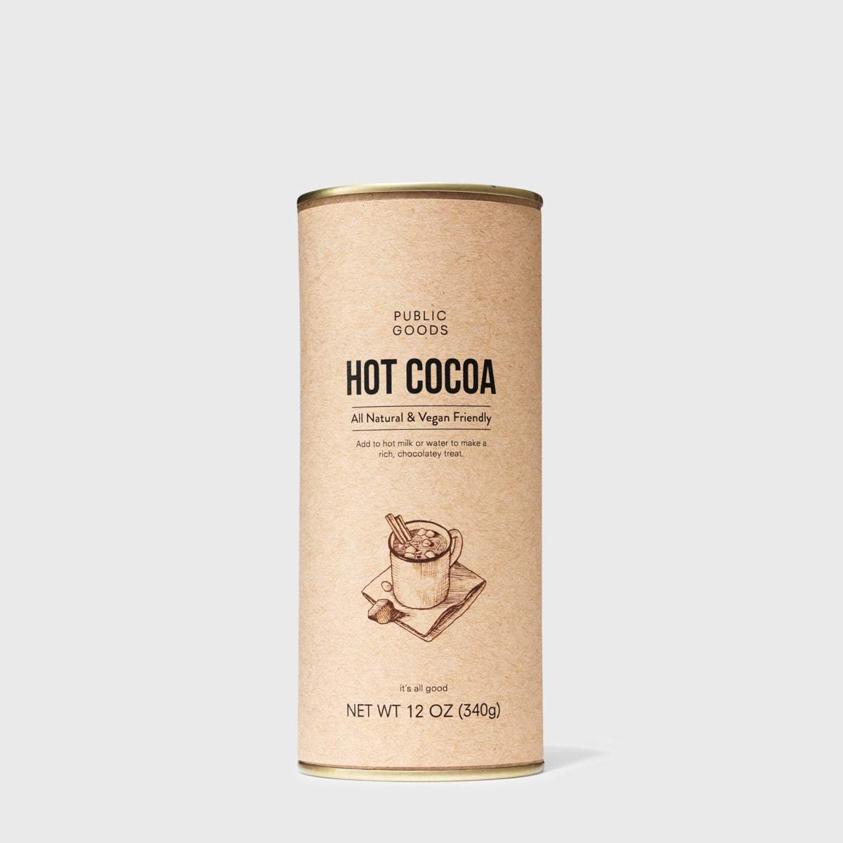 12 ounce can of hot cocoa mix
