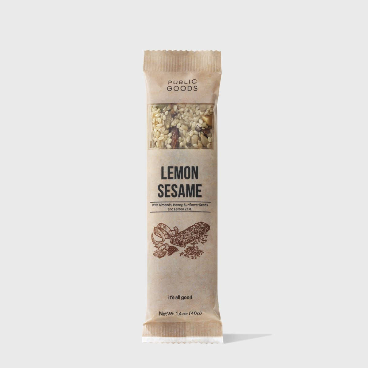 Lemon Sesame Snack Bar