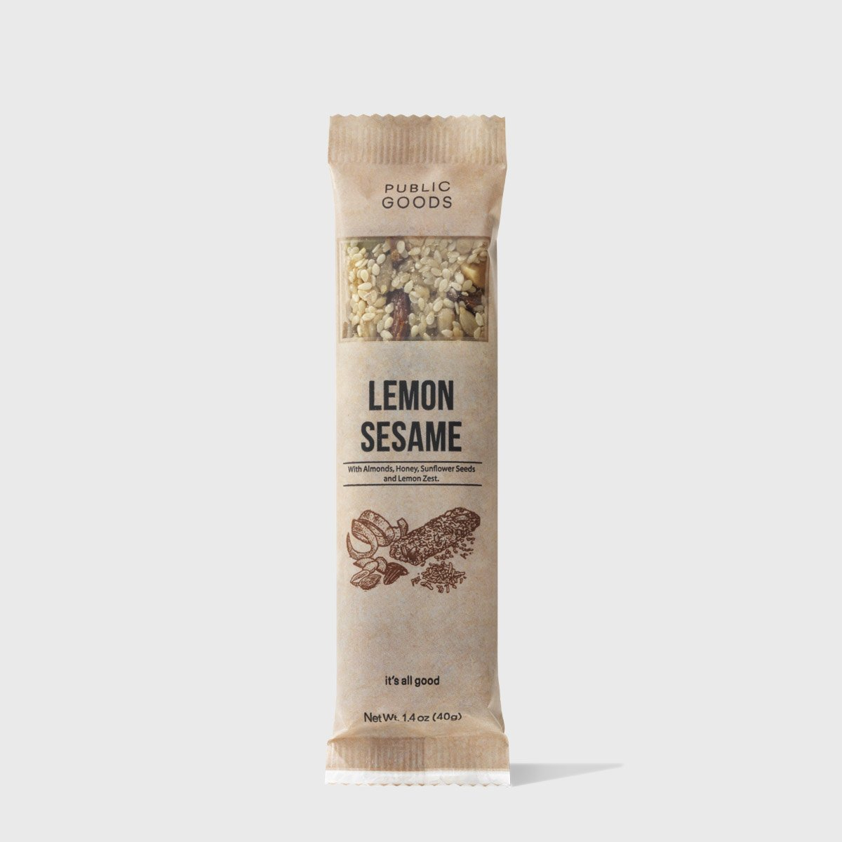 Lemon Sesame Snack Bar 12 ct (Case of 8)