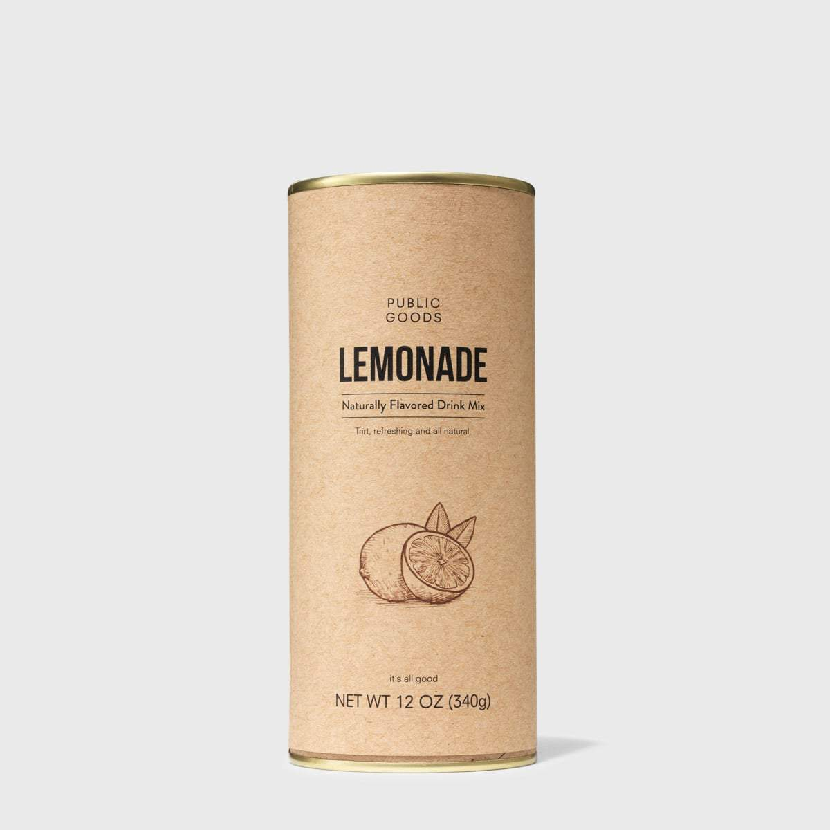 can of powdered lemonade drink mix