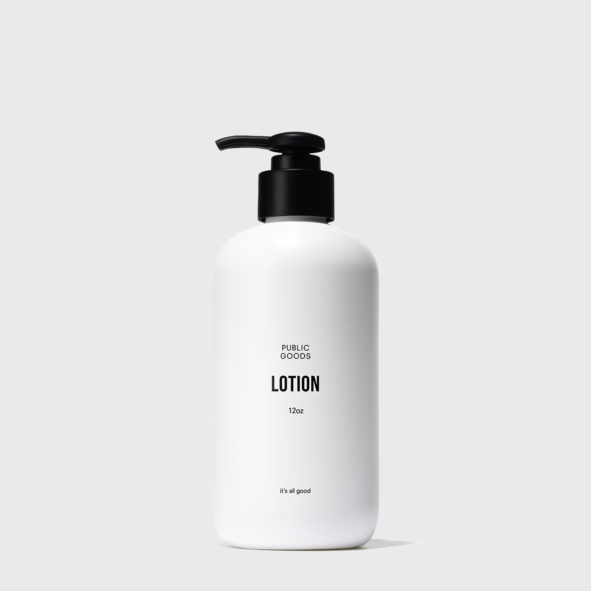 12 ounce bottle of lotion