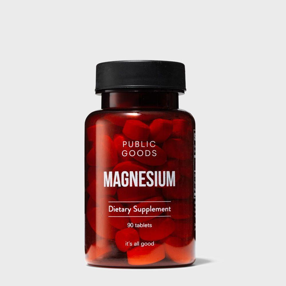 bottle of public goods magnesium supplement