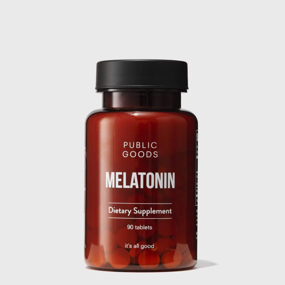 bottle of public goods melatonin supplement
