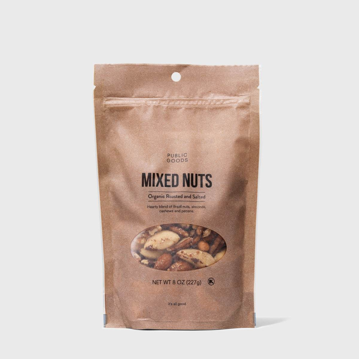 bag of roasted and salted mixed nuts