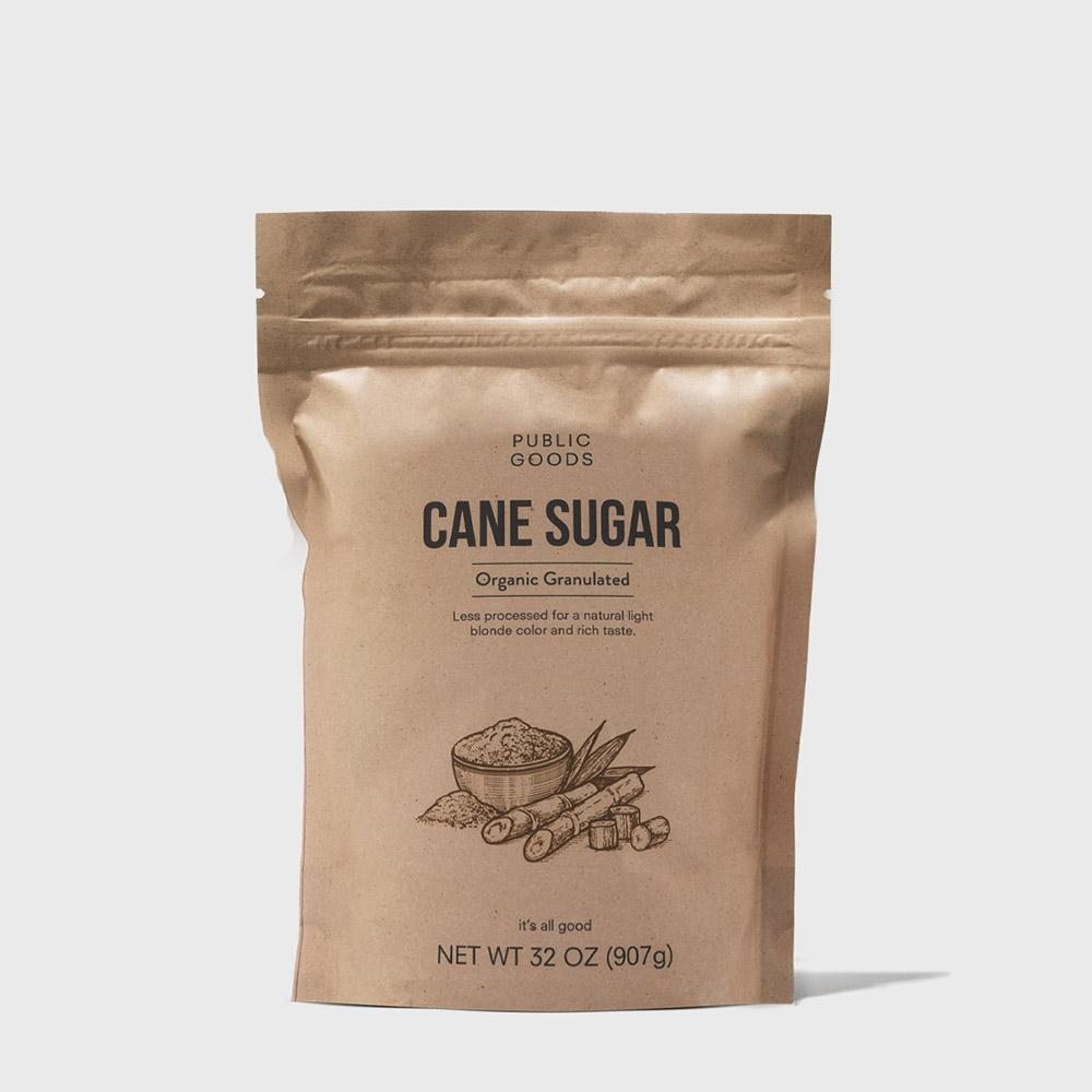 bag of organic cane sugar