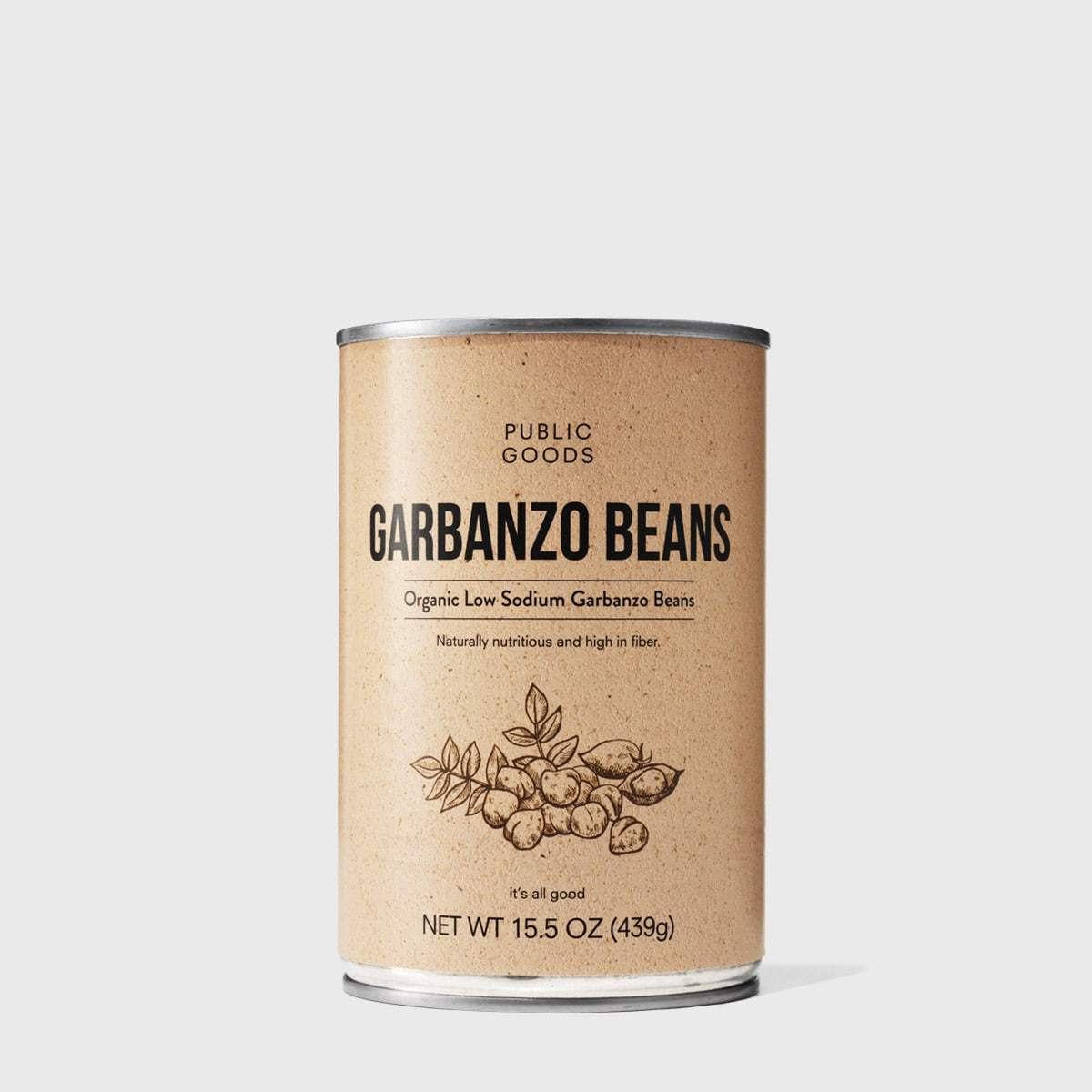 can of organic garbanzo beans
