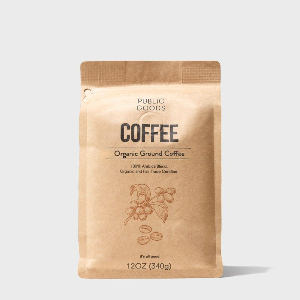 12 ounce bag of organic ground coffee
