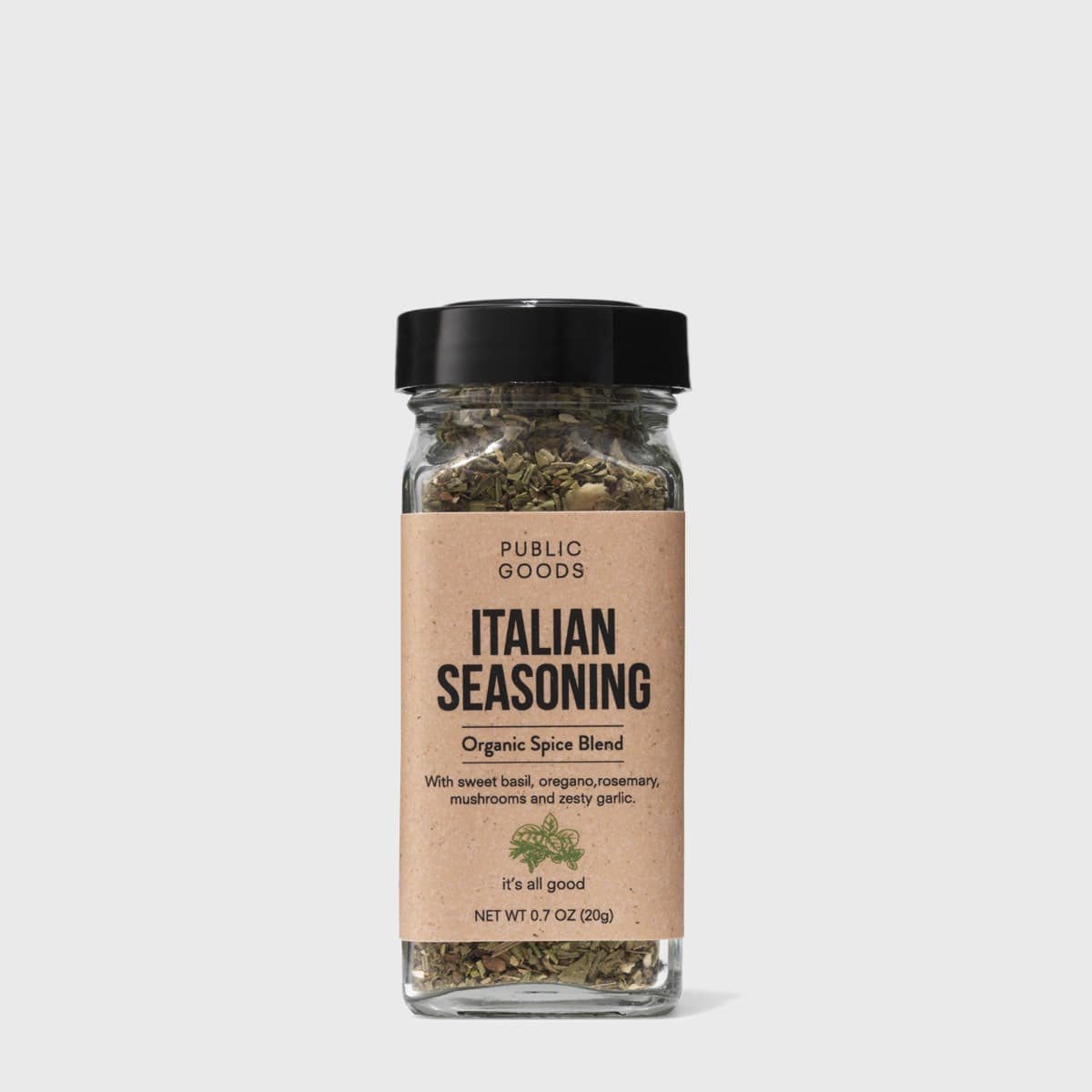 organic italian seasoning in sealed container