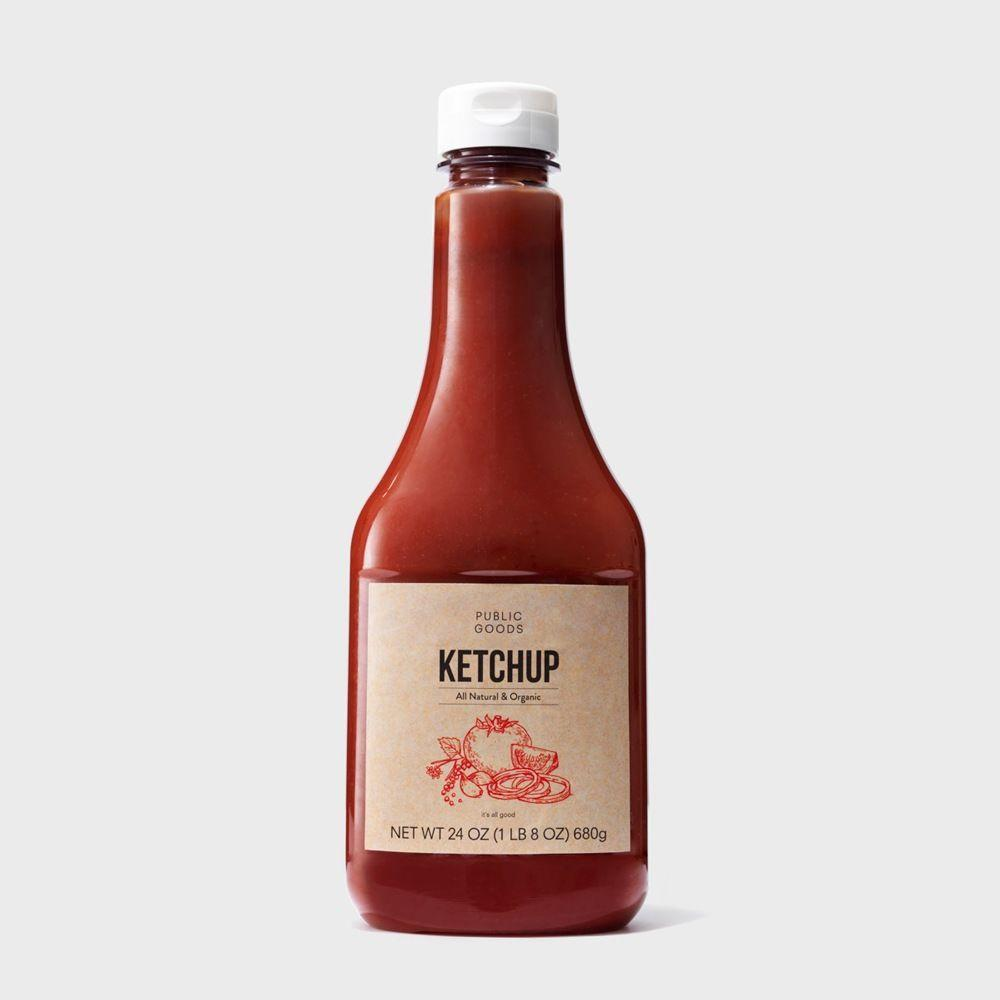 24 ounce bottle of public goods ketchup