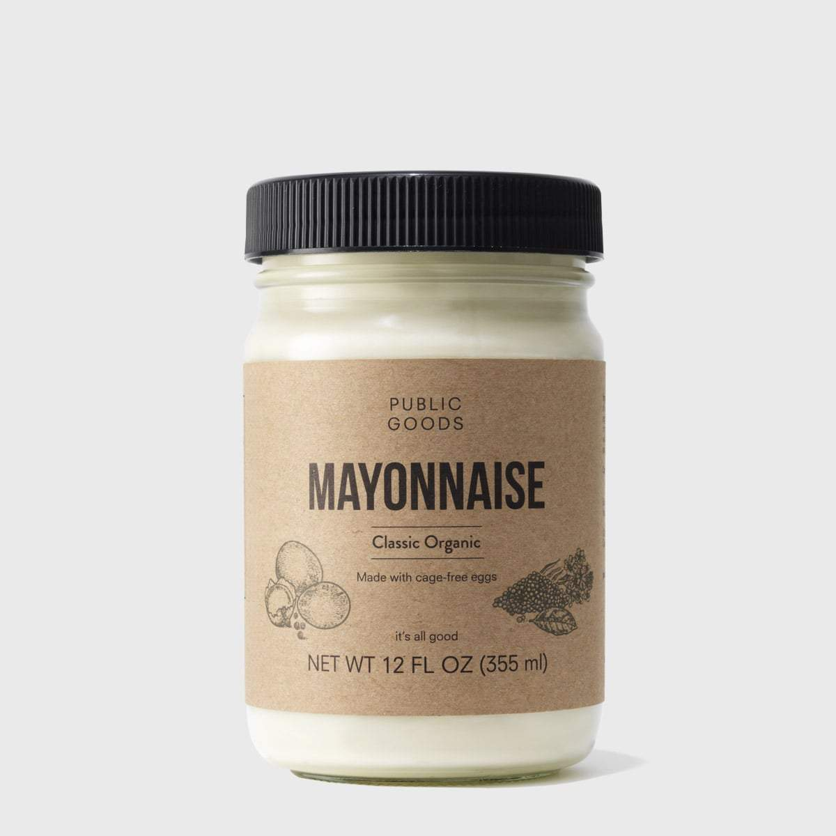jar of public goods organic mayonnaise
