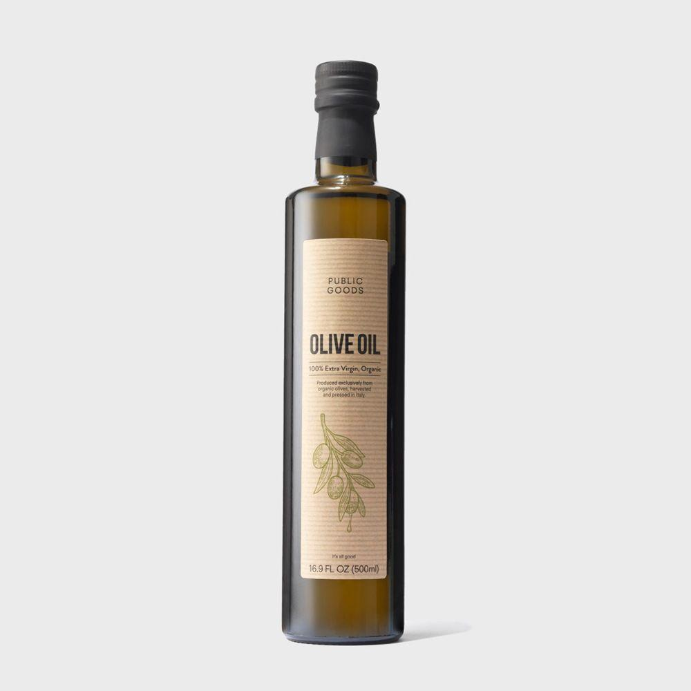 bottle of organic extra virgin olive oil