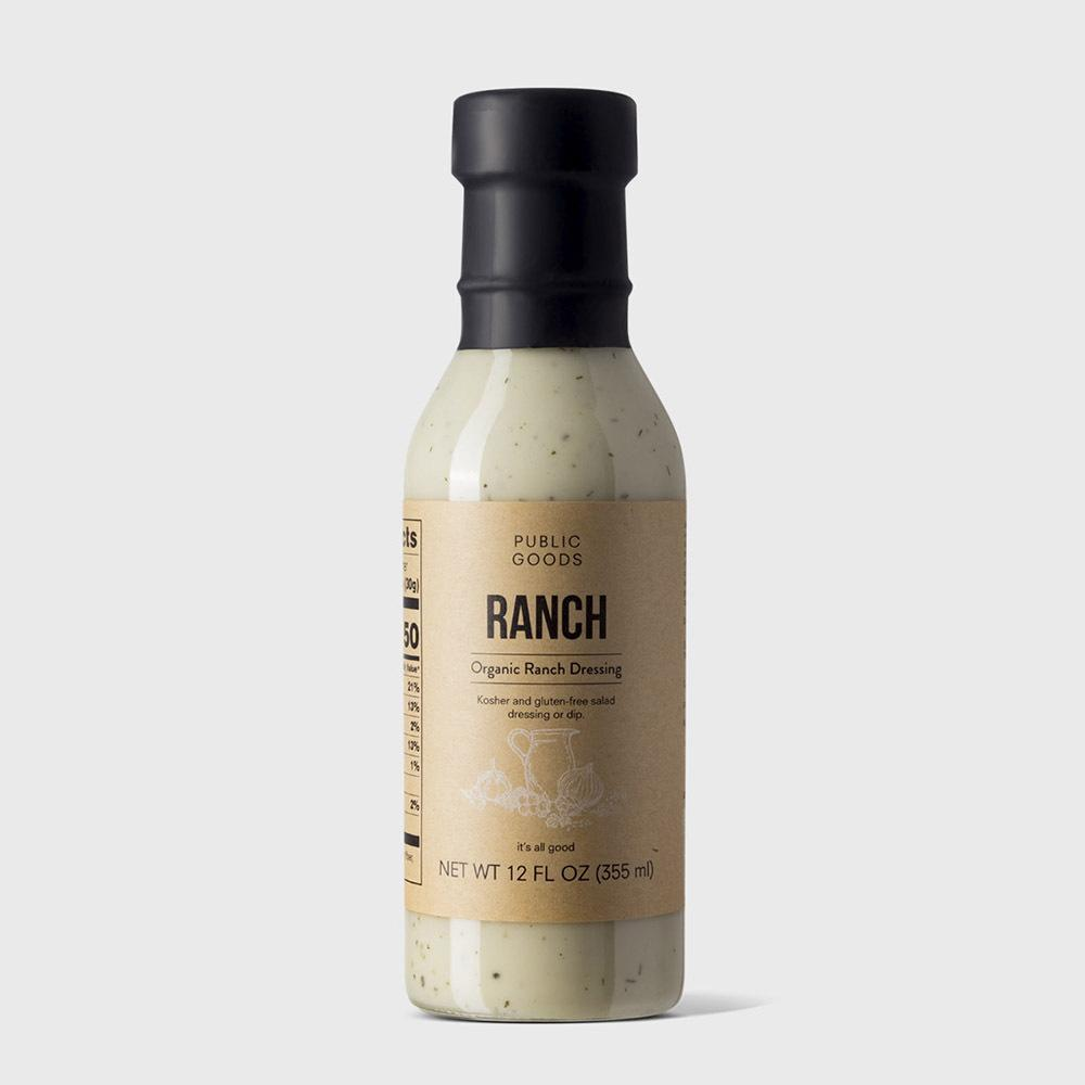 bottle of organic ranch dressing