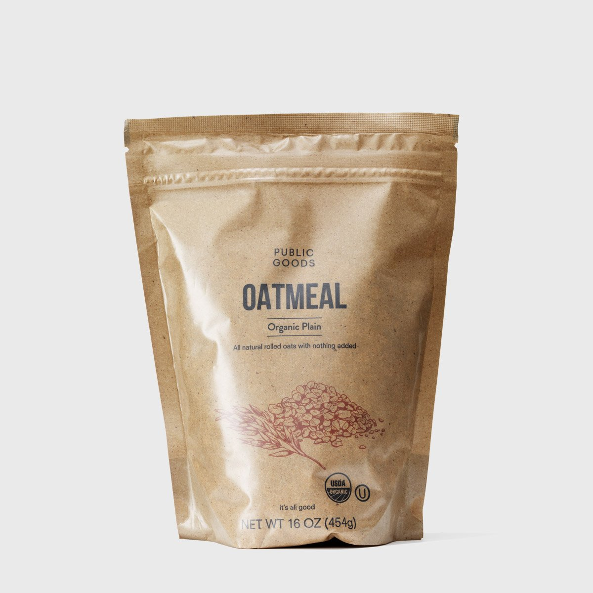 bag of organic rolled oats